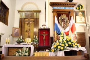 Chwile adoracji w zaprzyjaźnionej Parafii św. Urszuli Ledóchowskiej