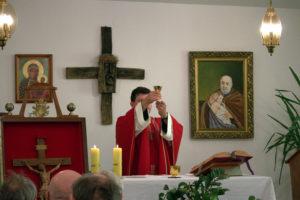Msza św. w Kaplicy Schroniska dla Mężczyzn, ul. Nowe Sady 17